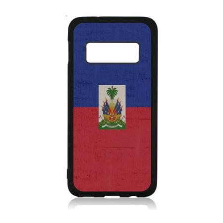 Flag Haiti - Haitian Flag Black Rubber Case Cover for The Samsung Galaxy s10 Plus / s10+ / s10P - Samsung Galaxy s10 Plus Accessories - Samsung Galaxy s10 Plus Case ()
