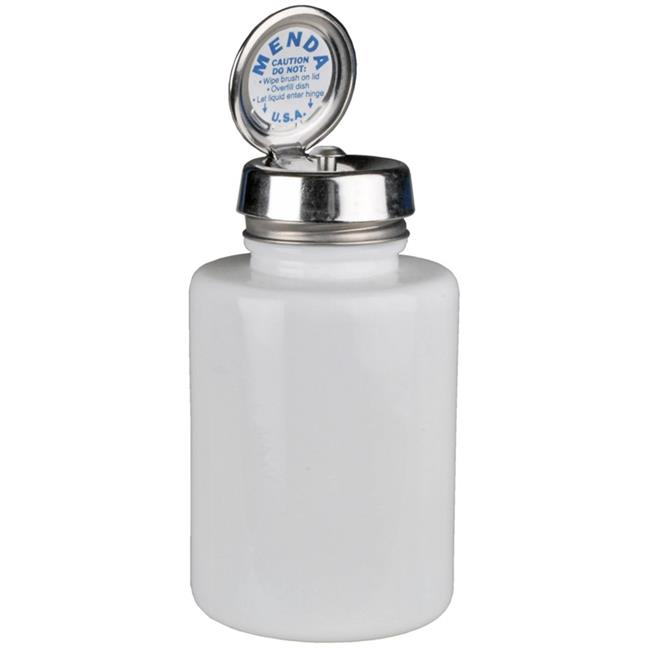 Round White Glass Bottle with Pure Touch Pump, 6 oz - image 1 de 1