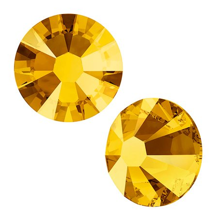Swarovski Crystal, Round Flatback Rhinestone SS9 2.5mm, 72 Pieces, Crystal Metallic Sunshine - 2028 Ss9 Crystal