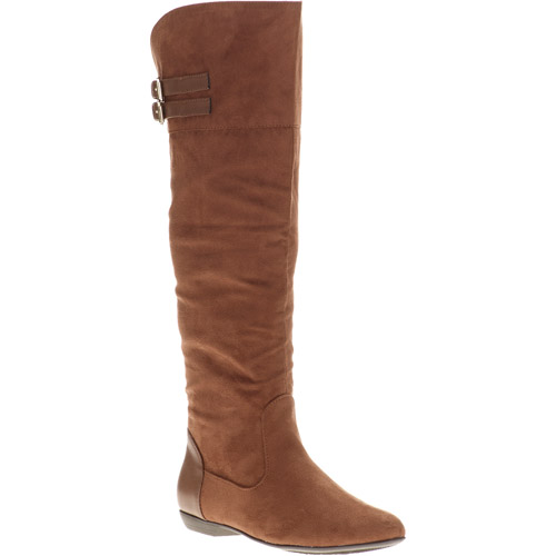 Passports Charmoz Stretch Knee-High Buckle Boots