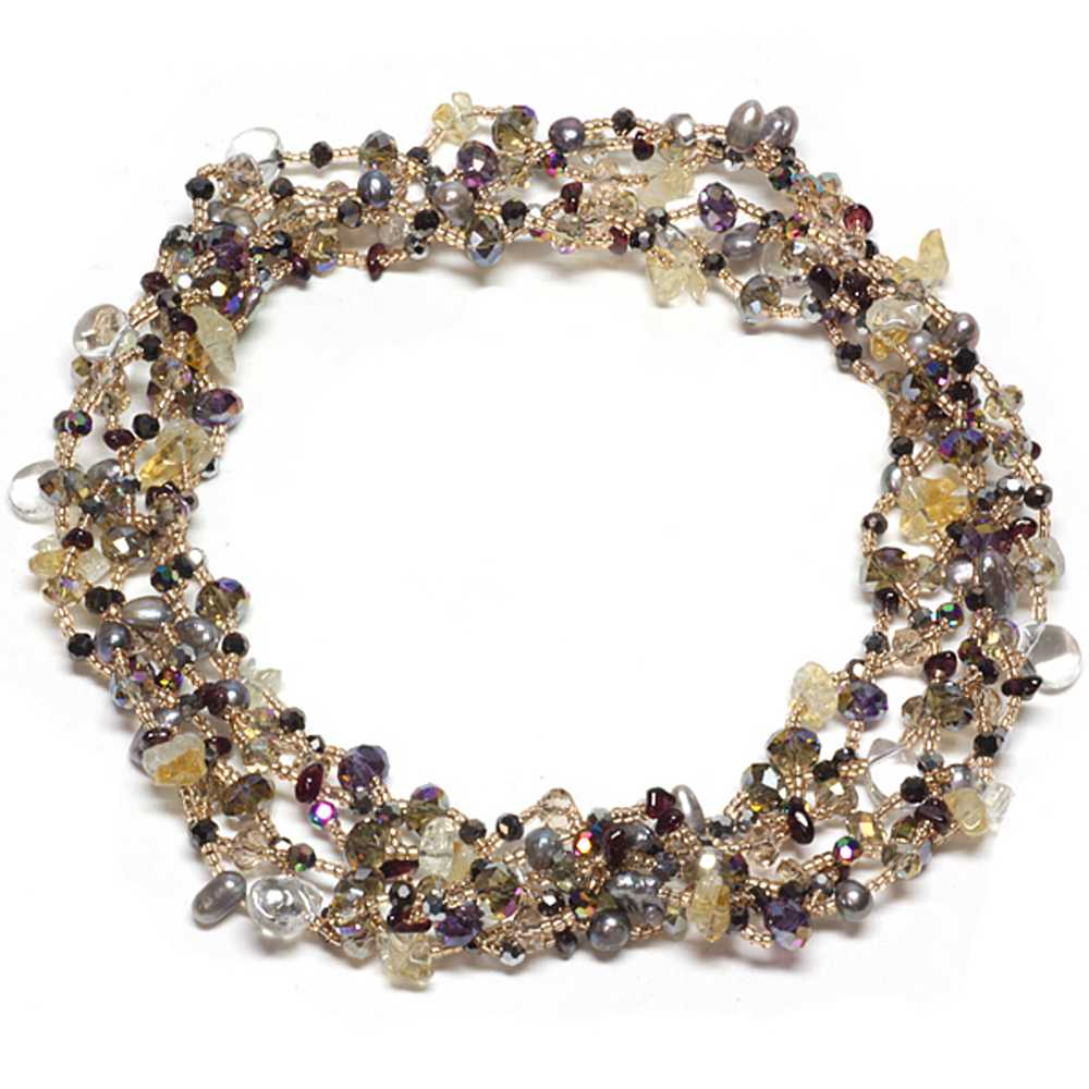 "32"" Multi-Color Cultured Freshwater Pearl With Multi Color Beads Necklace"