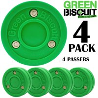 Green Biscuit 4 Pack Passer Off-Ice Stickhandling & Passing Puck This Biscuit is Great for Street Hockey/Free Ship/Free Sticker