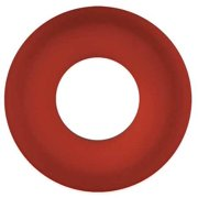 RUBBERFAB 42MPX-RZ-050 Gasket, Size 1/2 In, Tri-Clamp, Red