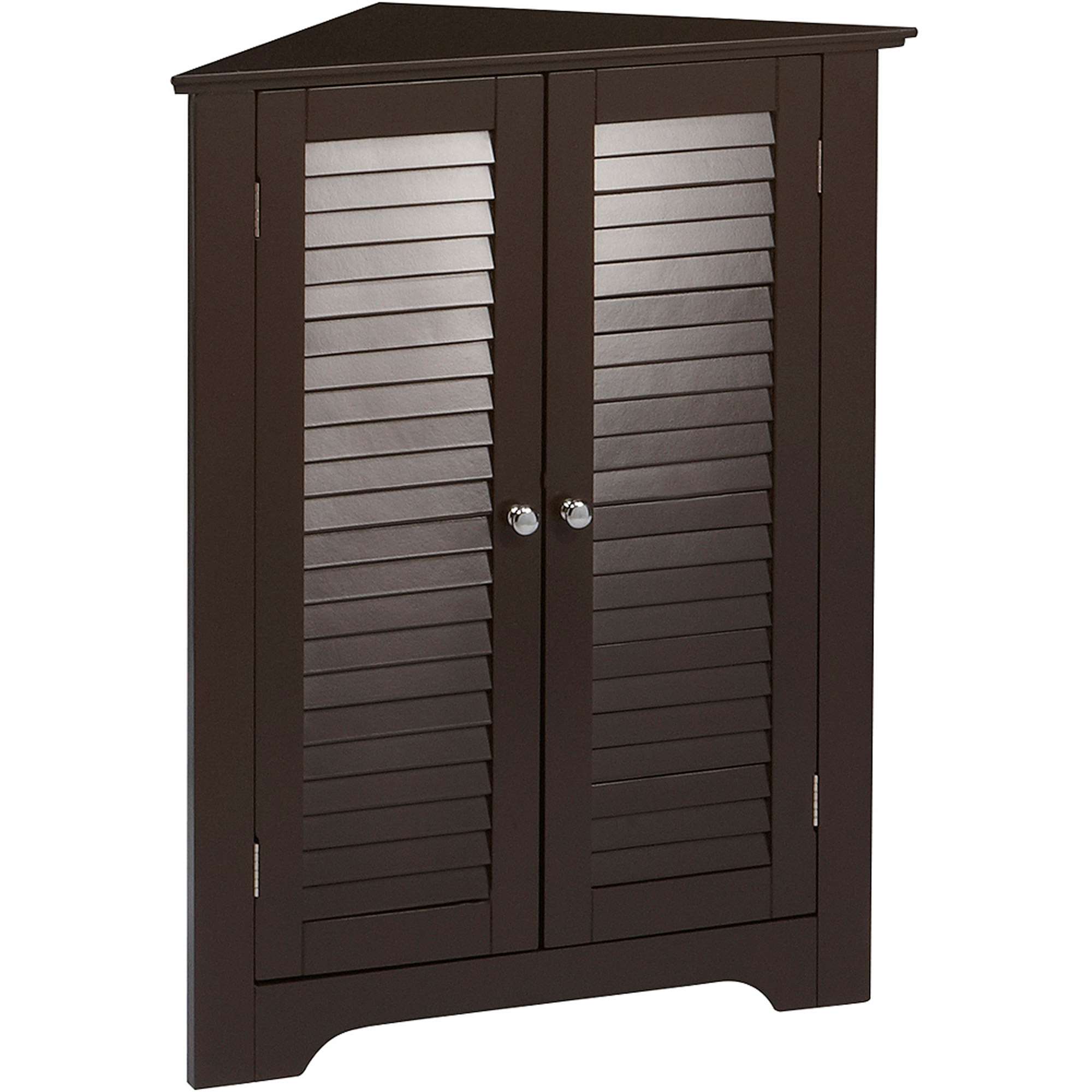RiverRidge Ellsworth 3-Shelf Corner Cabinet, Espresso - Walmart.com