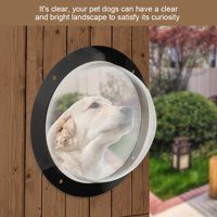 WALFRONT Durable Acrylic Pet Sight Window Dome Insert Fence Clear Outside Landscape Viewer For Cats Dogs, Acrylic Pet Window, Fence View Window