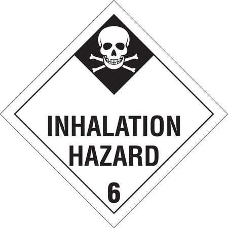 Vehicle Placard,Inhalation Hazard BRADY 63452