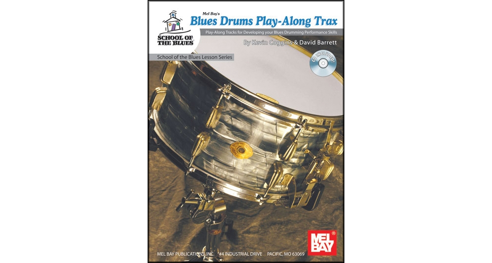 Mel Bay Blues Drums Play-Along Trax Book and CD by
