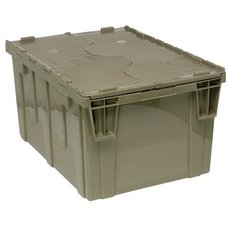 Quantum QDC2420-12 Plastic Storage Container with Attached Flip-Top Lid, 24