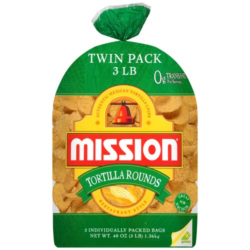 Mission Tortilla Rounds Restaurant Style Tortilla Chips, 48 oz