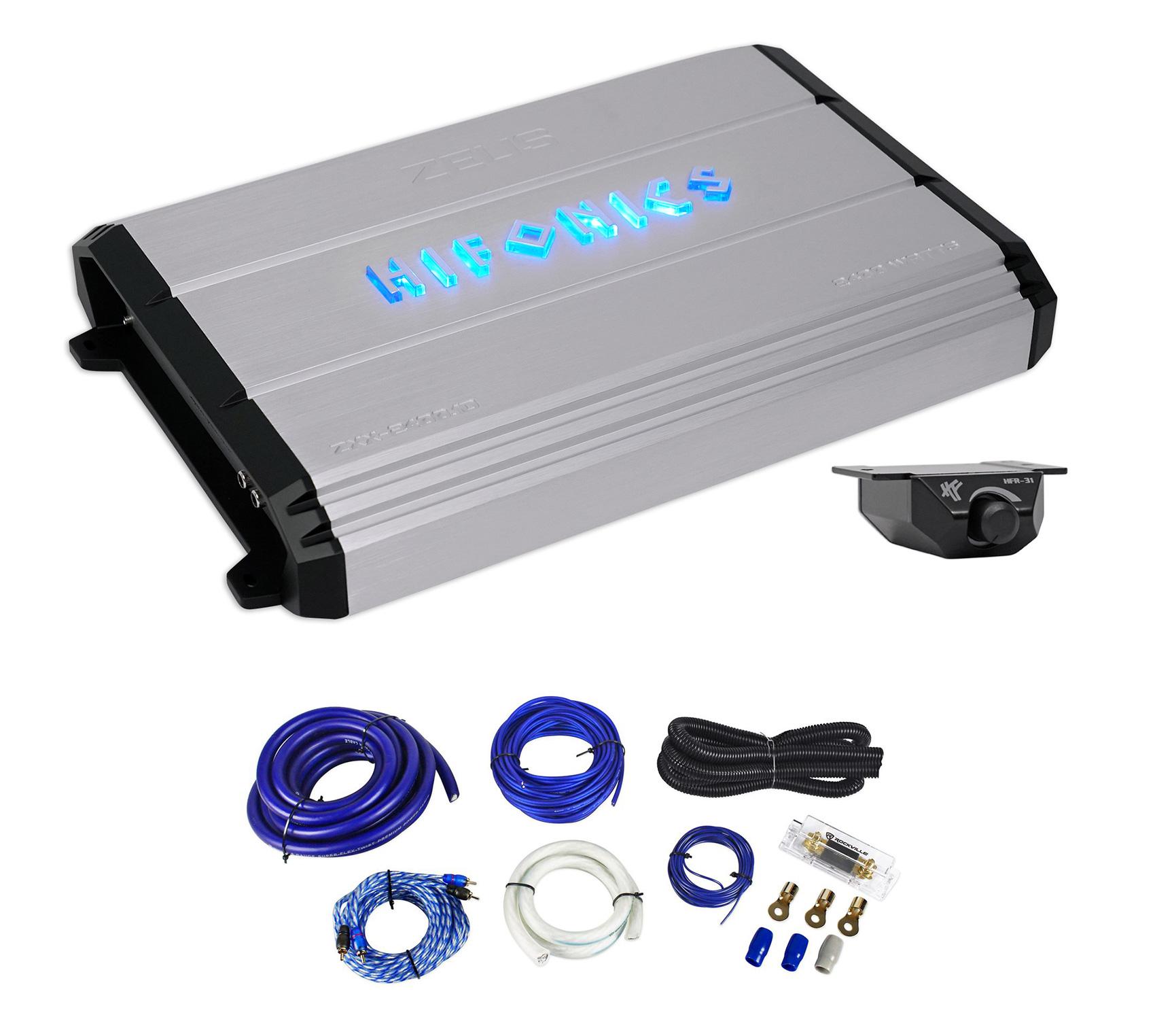Hifonics Zeus ZXX-2400.1D 2400 Watt RMS Mono Car Amplifier+Bass ...