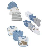 Wonder Nation Baby Boy Assorted Socks, Bibs & Caps Accessory Set, 12pc