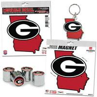 Georgia Bulldogs WinCraft Four-Pack Auto Accessory Kit - No Size