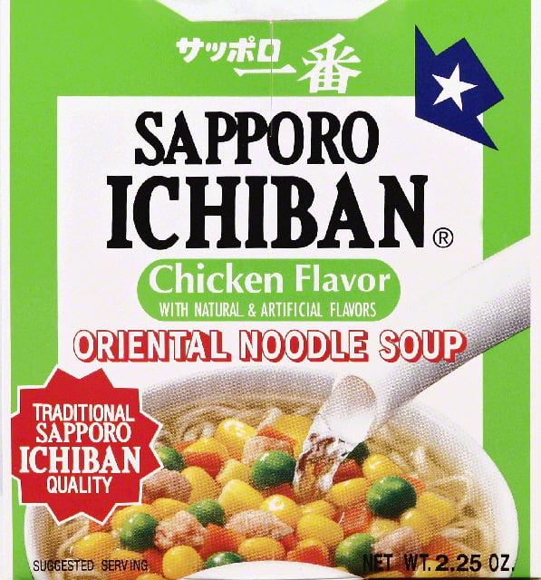 Sapporo Ichiban Noodle Soup, Oriental, Chicken Flavor