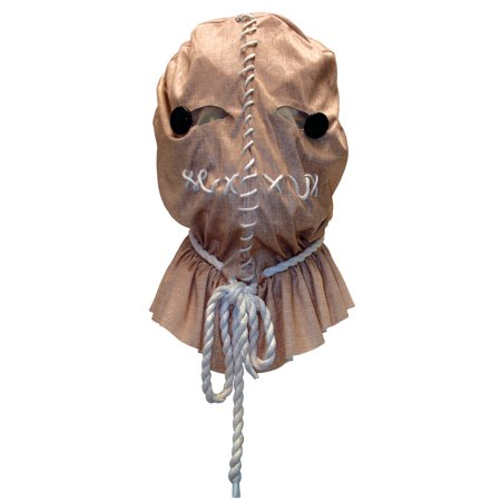 Uncle Sam Mask (Adults Trick 'r Treat Sam Costume Accessory Latex Mask with Burlap)