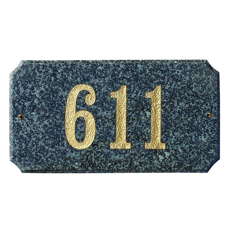 QualArc Executive Rectangle Granite Address Plaque