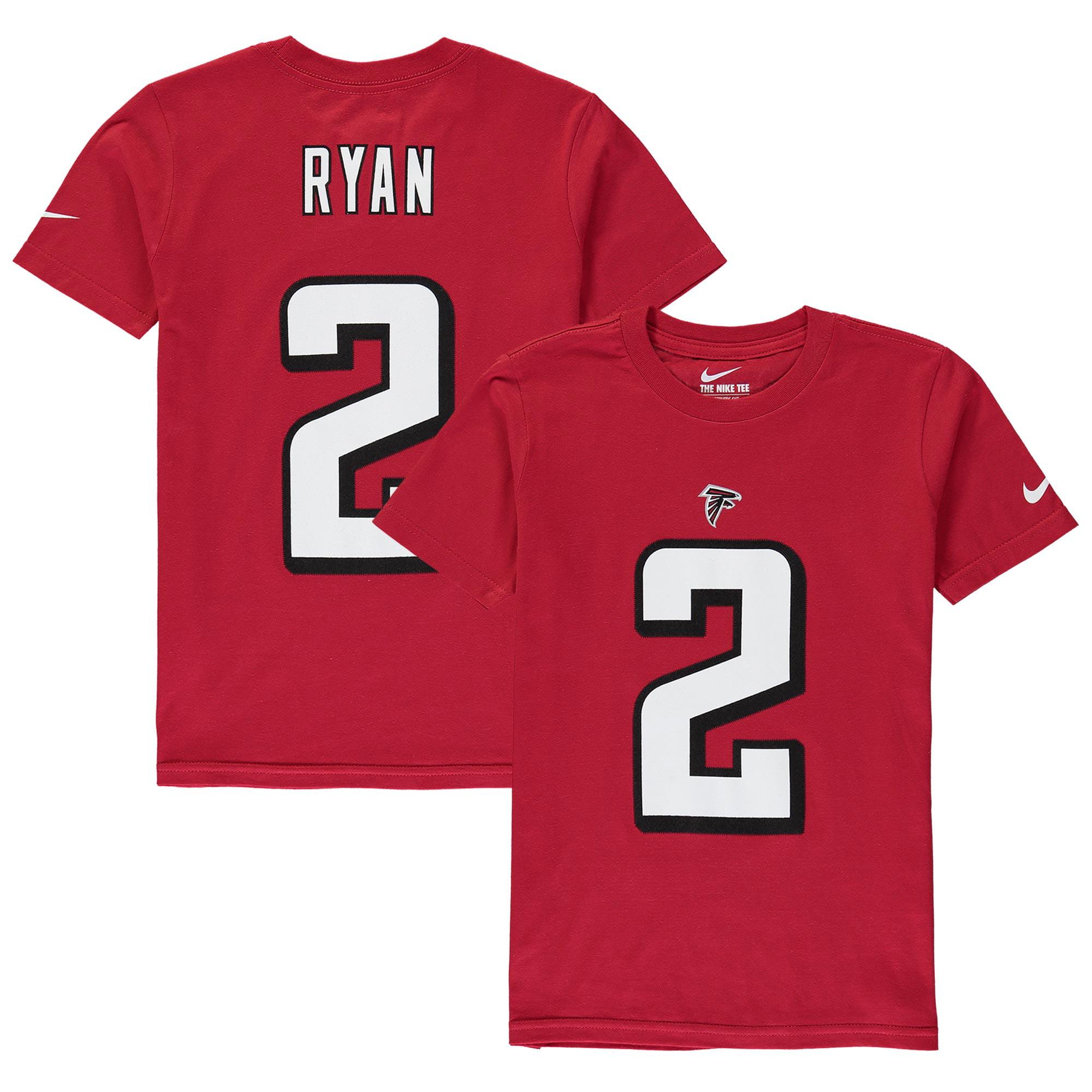 Matt Ryan Atlanta Falcons Nike Youth Player Pride 2.0 Name & Number T-Shirt - Red