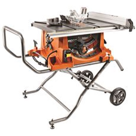 Ridgid 15-Amp Heavy-Duty Table Saw With Stand, 10-Inch