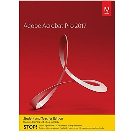 Adobe Acrobat Professional 2017 For Windows  Student And Teacher Edition