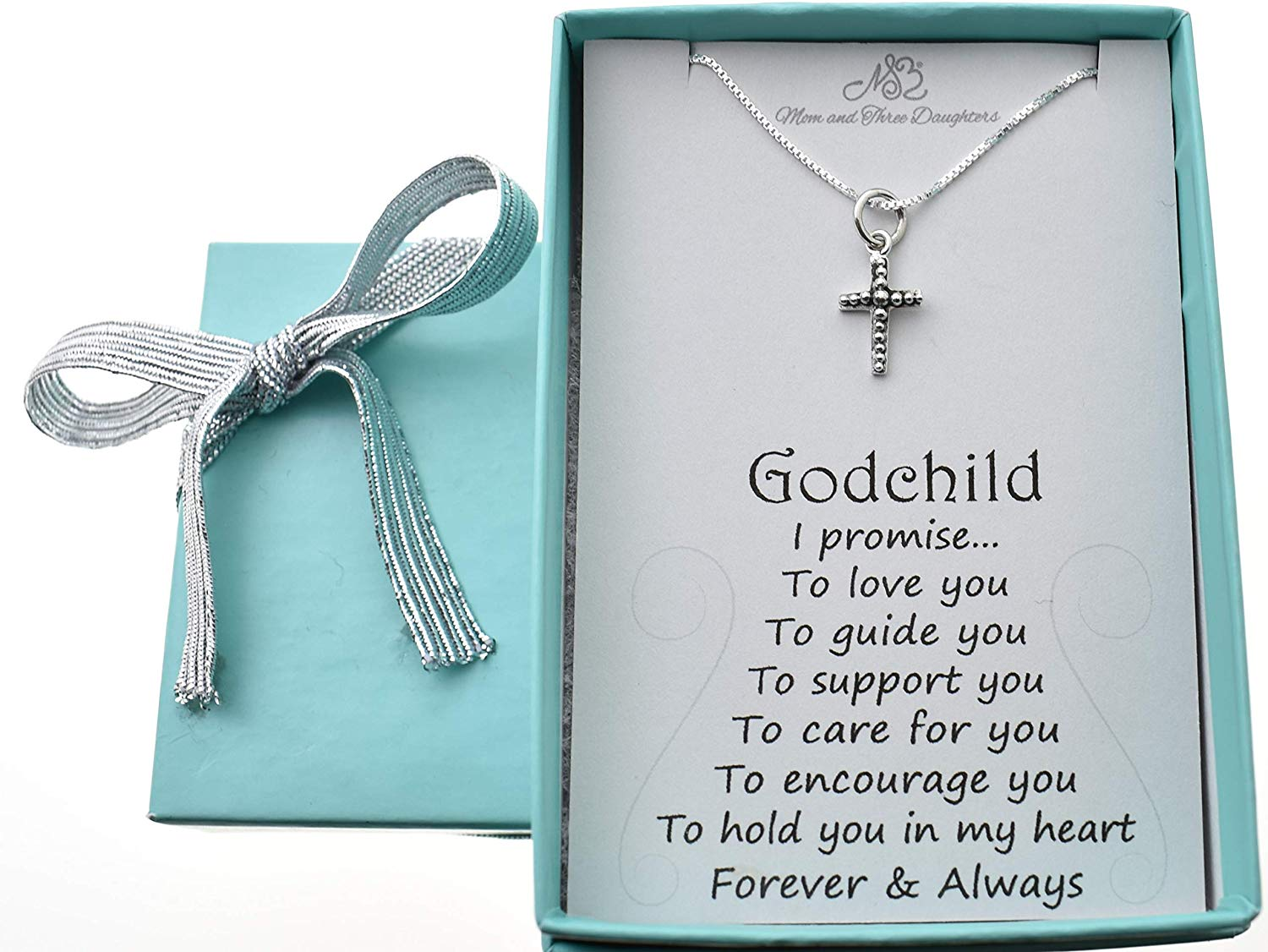 Schoolgirl chain fox with body and hexagon bead gift for birth or baptism of wood girl boy baby