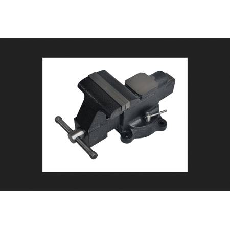 Steel Grip 6 In Forged Steel Bench Vise Swivel Base Black