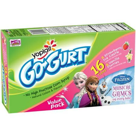 Yoplait Go-Gurt Frozen Strawberry Ice Castle/Vanilla Flurries Portable Low Fat Yogurt, 2.25 oz, 16 ct - Walmart.com