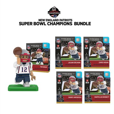 Oyo Nfl Fan Set Of 5 Items   2017 Superbowl Champions   New England Patriots