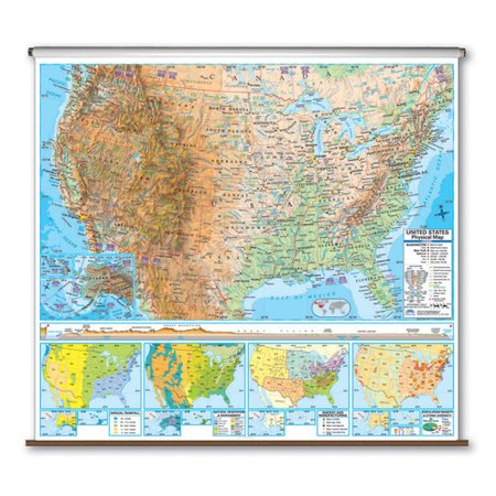 Universal Map Advanced Physical Map   United States