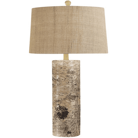 (Table Lamps 1 Light With Natural Finish Bark Metal Material E26 Bulb Type 30 inch 100 Watts)