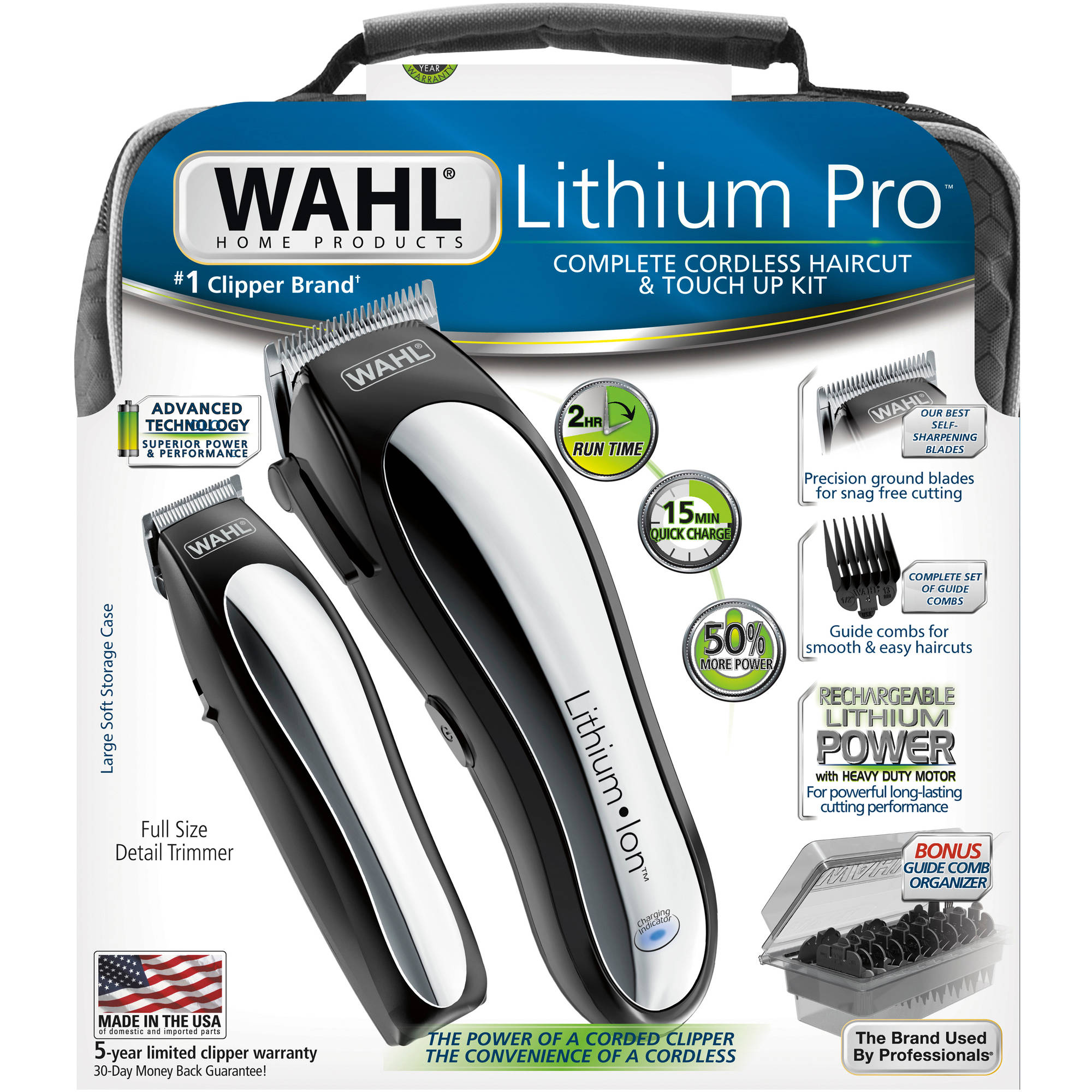 Wahl Lithium Pro Complete Cordless Hair Clipper Touch Up Kit
