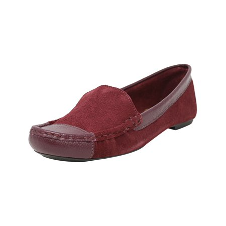 Fs/Ny Women's Allure2 Bordo Suede/ Leather Ankle-High Suede Loafer - 8M ()