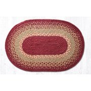 "Earth Rugs C-104 Burg / Maroon / Sunflower Oval Braided Rug 20"" x 30"""