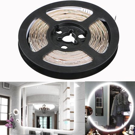TSV LED Vanity Mirror Lights Kit for Makeup Dressing Table Vanity Set 13ft Flexible LED Light Strip 6000K Daylight White with Dimmer and Power Supply, DIY Hollywood Style Mirror, Mirror not Included
