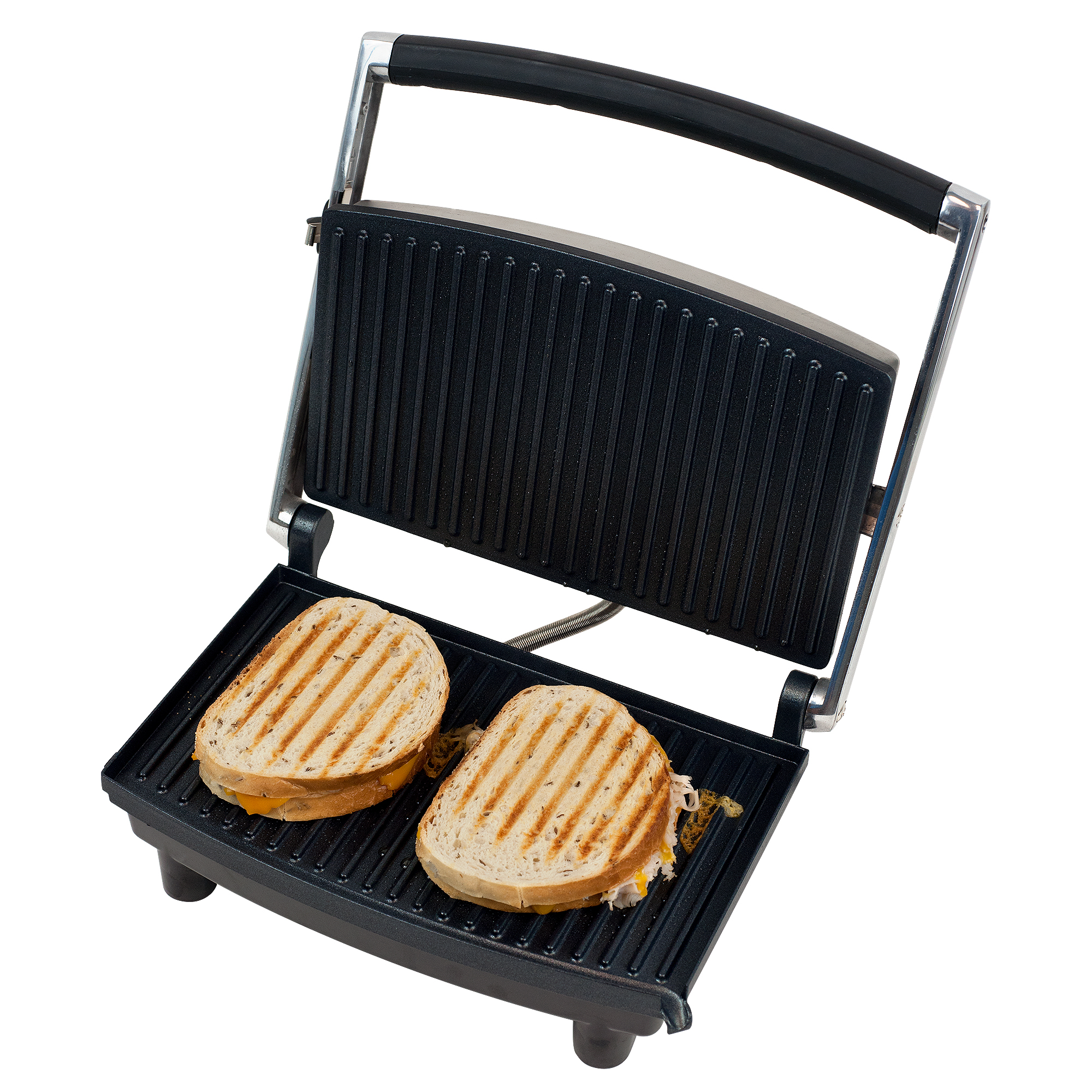 Panini Press Grill and Gourmet Sandwich Maker for Healthy Cooking