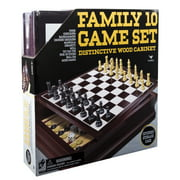 Family 10 Game Center in Wooden Case