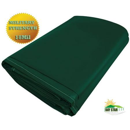 Vinyl Tarp - 8'x10' Green Vinyl Tarp PVC Tarp 13 Oz. 18mil