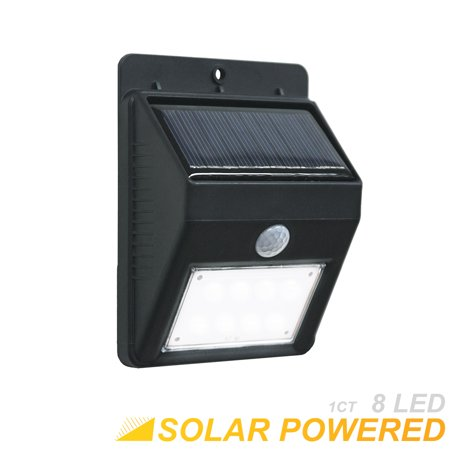 eTopLighting PIR Motion Sensor Solar Panel Outdoor Porch Security Wall Light with 8 Bright LED Daylight Lights , WMLS2404