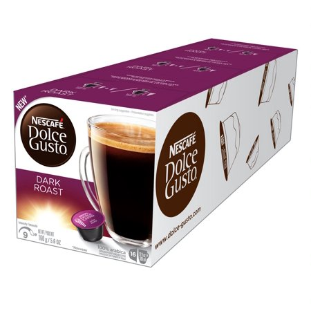 Nescaf Dolce Gusto Dark Roast Coffee Pods Full-bodied 48 Count (3 Packs of 16 Pods) (Dolce Gusto Coffee Premier Life)