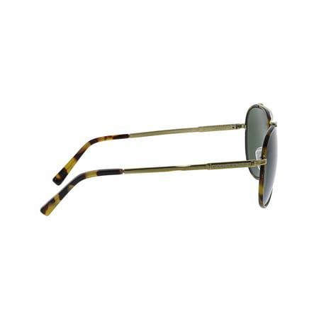 29c124909ab8 Michael Kors Women's Mirrored MK1019-116371-59 Gold Aviator Sunglasses -  image 1 ...