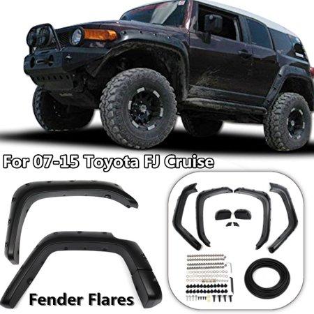 6 Pack Fender Flares Wheel Cover Trip Kit Pocket Style For 07-15 Toyota FJ Cruiser Offroad Black