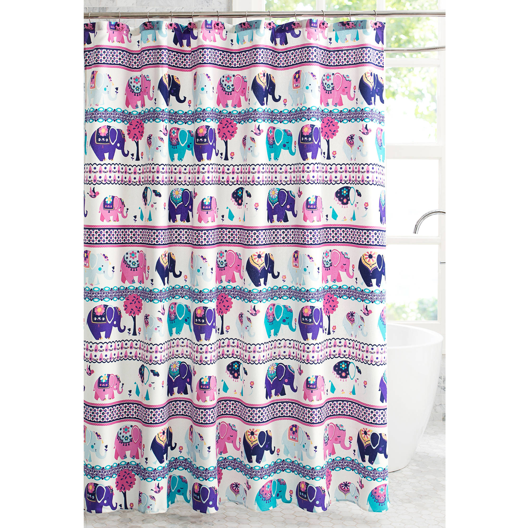 Better Homes and Gardens Elephants on Parade 13-Piece Shower Curtain Set