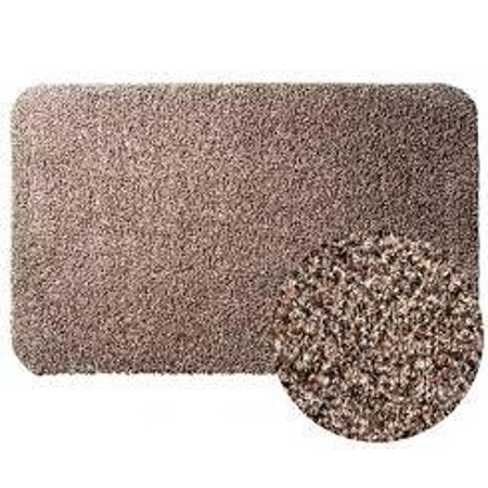 Clean Step Mat Super Absorbent Doormat with Rubber Backing Non Slip As Seen On Tv Color Brown Size 16