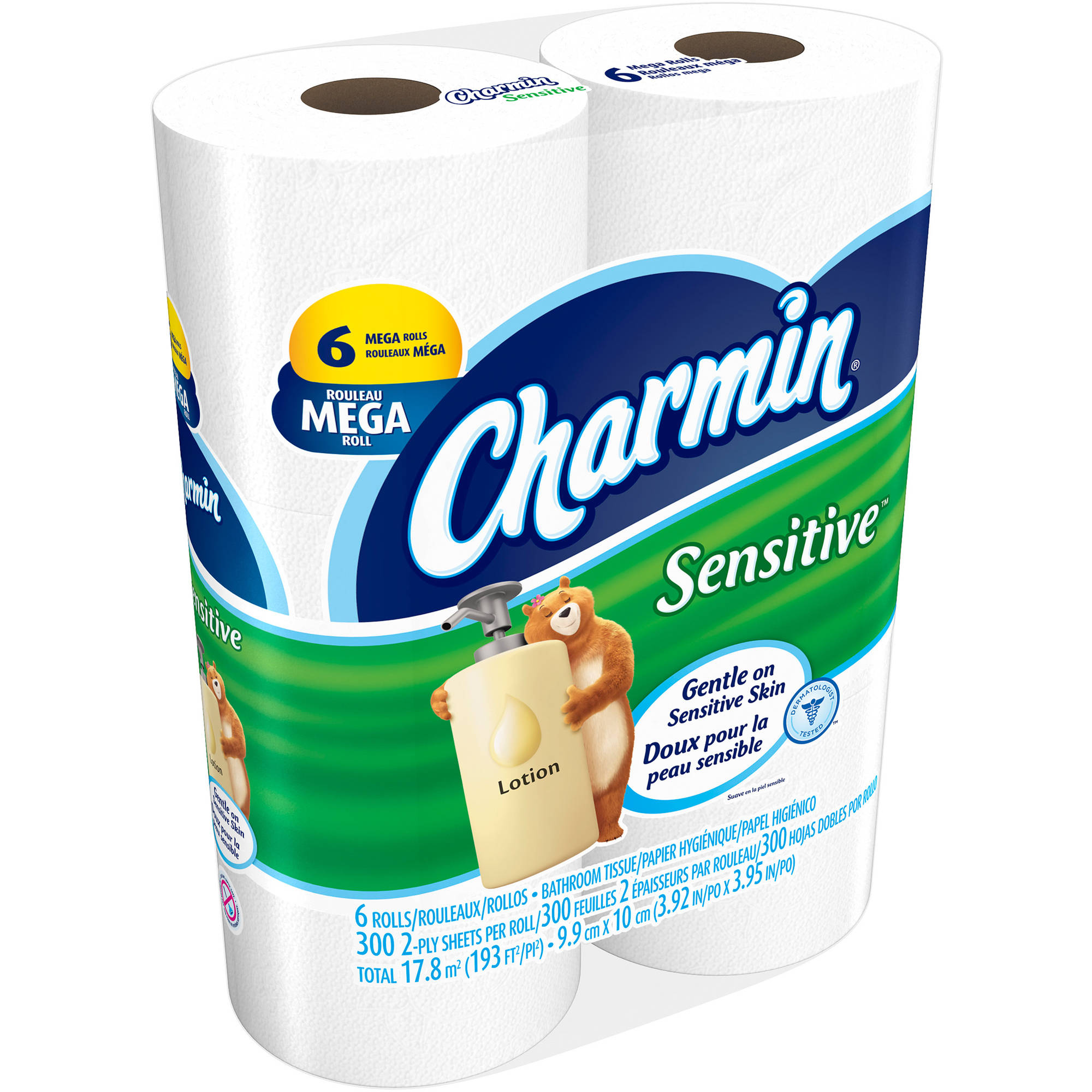 Charmin Sensitive Mega Roll Bathroom Tissue, 6 rolls