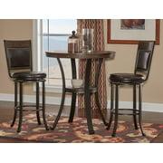Powell Franklin 3 Piece Pub Table Set, Dark Brown by Pub Tables