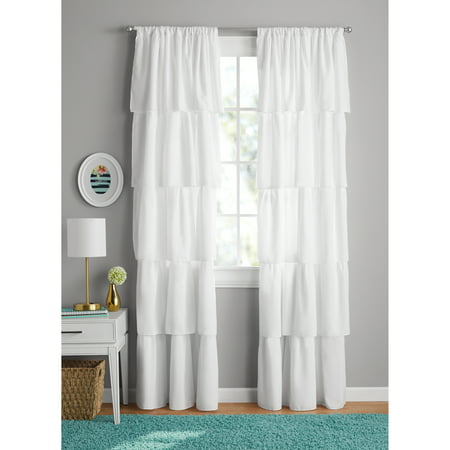 Your Zone Ruffle Girls Bedroom - Ruffled Swag Curtain