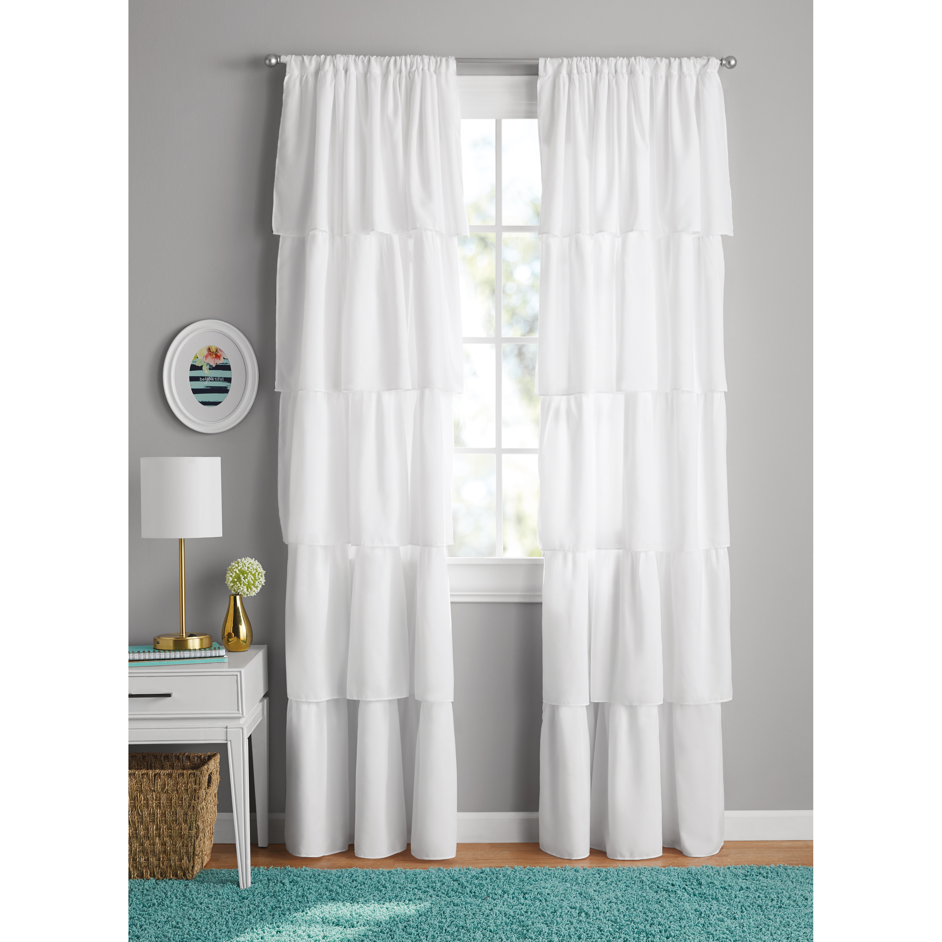 Attirant Your Zone Ruffle Girls Bedroom Curtain