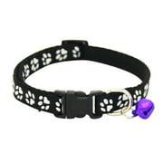 Reflective Cat Collar Adjustable Pet Kitten Reflective Necklace for Small Pet Animals Cat Collar with Bells Breakaway Cat Collar