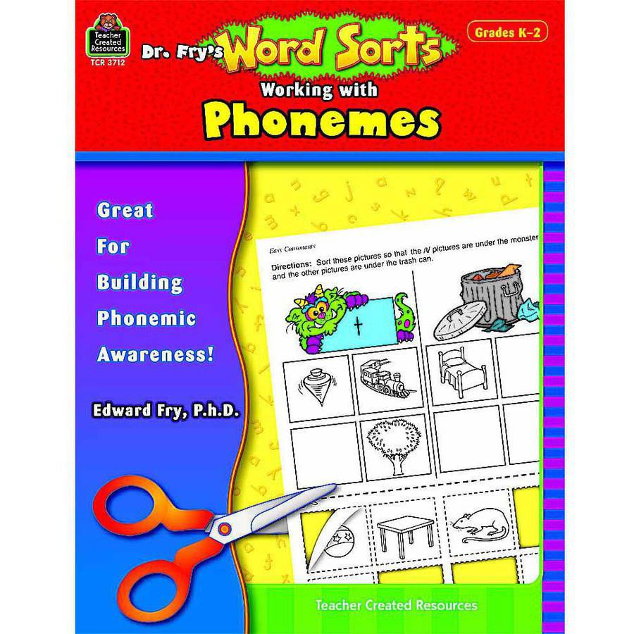 Teacher Created Resources, Dr. Fry's Word Sorts: Working with Phonemes, Grades Kindergarten to 2