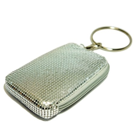 Pearl Pouch - Bling Bangle Pouch, Silver, BLING away with these fashionable pouches By Tsubota Pearl