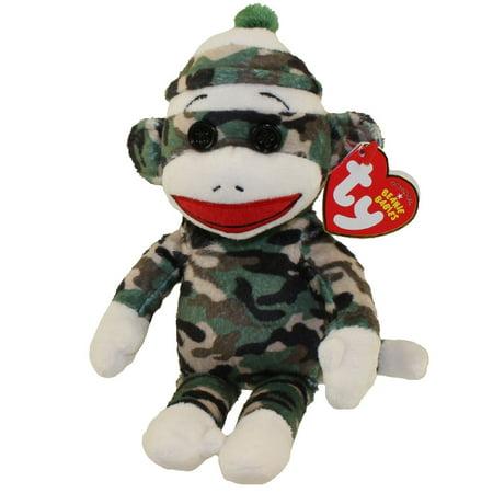 TY Beanie Baby - SOCK MONKEY (Camouflage - 8.5 inch)](Baby Sock Monkey)