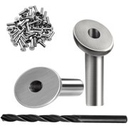 """VEVOR  42 Pack  Cable Railing Kit, T316 Stainless Steel 30 Degrees Angle Beveled Protector Sleeves, Fit 1/8"""" Cable Railing Hardware System for Stair Railing, Deck Railing, DIY Balustrade"""